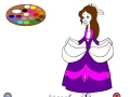 Game Coloring: Cinderella at the ball in a hurry. Play online