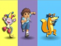Game Dora. Colours memory. Play online