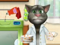 Game Talking Tom. Washing dishes. Play online