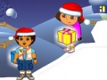 Game Dora & Diego. Chistmas gifts. Play online