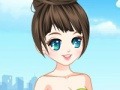 Game The fashion girl in the airport. Play online