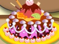 Game Pou chocolate cake. Play online