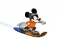 Game Mickey Mouse on a snowboard. Play online