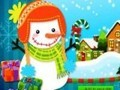 Game Cheerful snowman . Play online