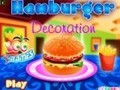 Game Hamburger decorations . Play online