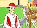Game Decorate the zoo . Play online