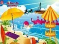 Game Beautiful beach decorations . Play online