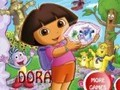 Game Dora The square puzzle . Play online