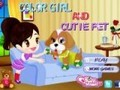 Game Colored Girl and Cute Pet . Play online