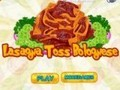 Game Toss Lasagna Bolognese . Play online