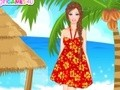 Game Cute doll in Hawaii . Play online