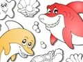 Game Colour marine inhabitants . Play online