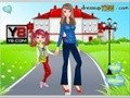 Game In the school with her mother . Play online