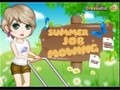 Game Summer Jobs, mowing the lawn . Play online
