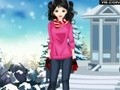 Game Winter clothing for a pretty girl . Play online