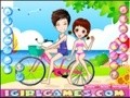 Game Romantic lovers bike . Play online