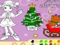 Game Christmas Coloring girls . Play online