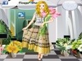 Game Dressing the girls in the flower shop . Play online