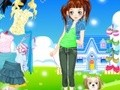 Game Dress for a walk with sobapkoy . Play online