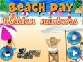 Game Beach day. Hidden Numbers . Play online