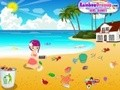 Game Cleaning In Summer beach . Play online