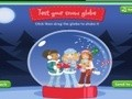 Game Creating a glass ball with snow . Play online